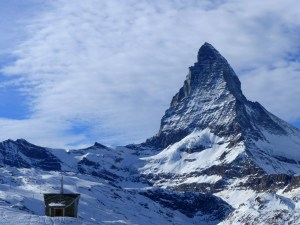 Kerkje met Matterhorn