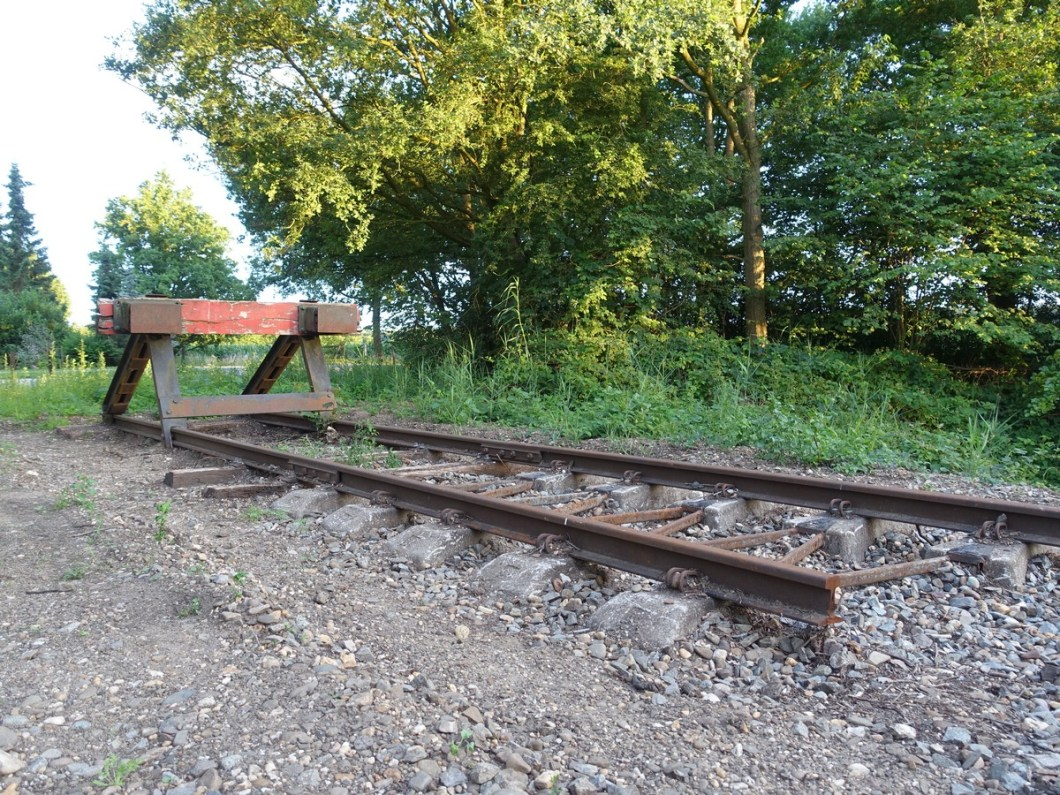 Restant van oude spoorlijn Klompenpad Schutpad