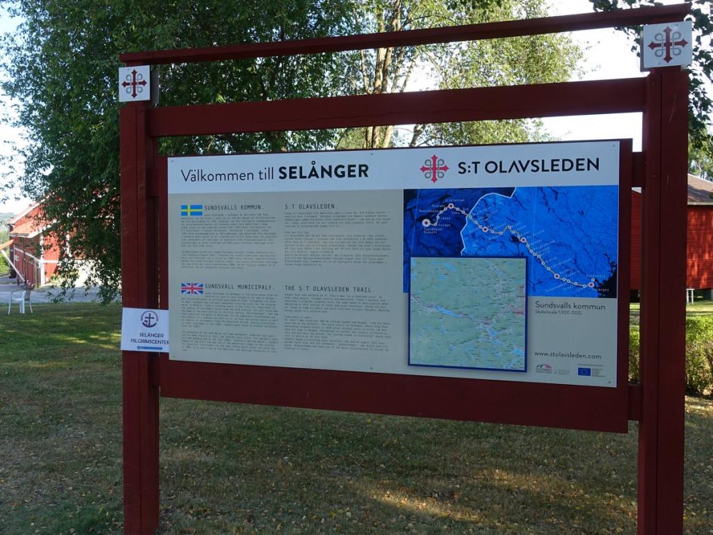 Welkomstbord St Olavsleden