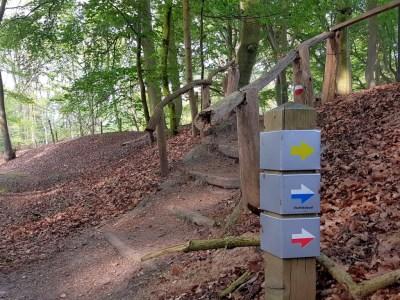 Markering Vechtdalpad in het bos
