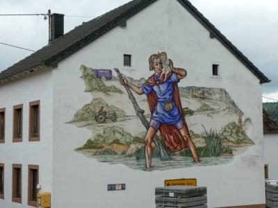 Muurschildering Christoffel