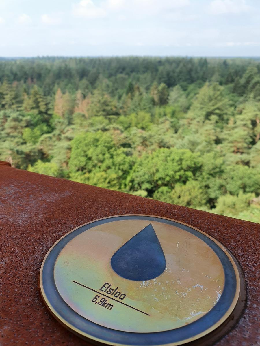 Schildje van Elsloo op de Bosbergtoren
