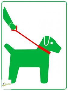 honden aan de leiband