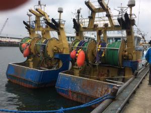 Vissersboten in de haven van Scheveningen