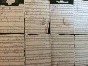 Partituur 'Three Opposite pieces' Martijn Padding