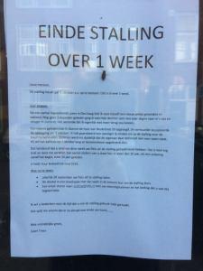 Fietsenstalling stopt over 1 week