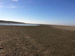 Zandmotor met plassen
