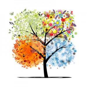 Kunstzinnige afbeelding van een boom met bladeren