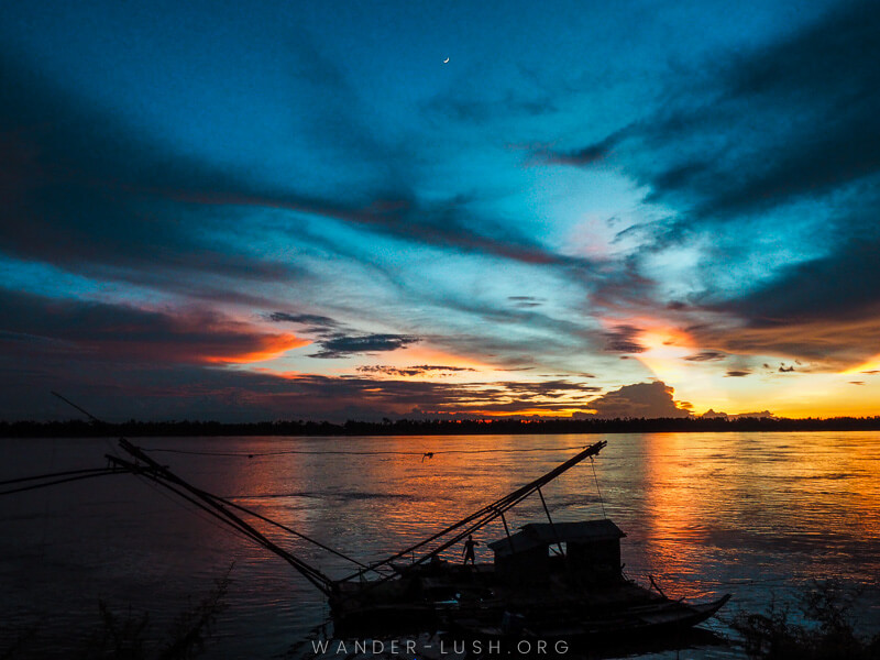 Sunset in Kratie Cambodia
