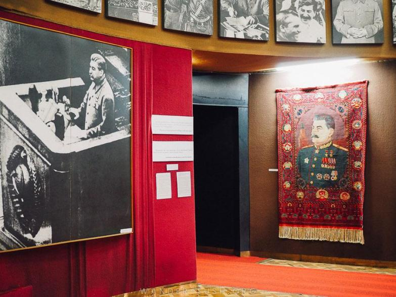 Pictures of Stalin in a museum in Georgia.