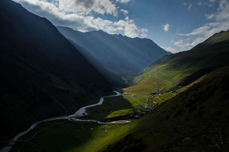 Tusheti. Credit: JLB1988. Greater Caucasus mountains.