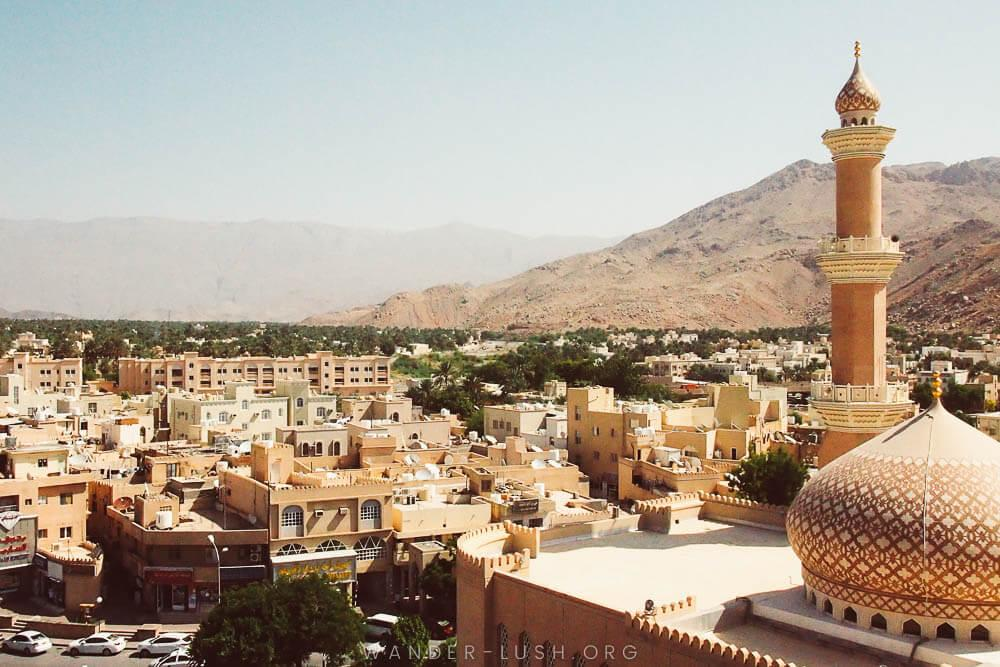 View of Niza mosque and town from the top of the fort. Photo credit: Emily Lush.