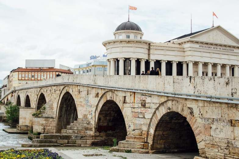 The Stone Bridge that connects Skopje Old Bazaar with the rest of the city.