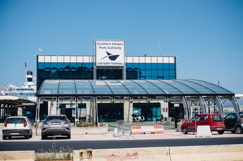 The terminal building where you board the Bari Durres ferry.