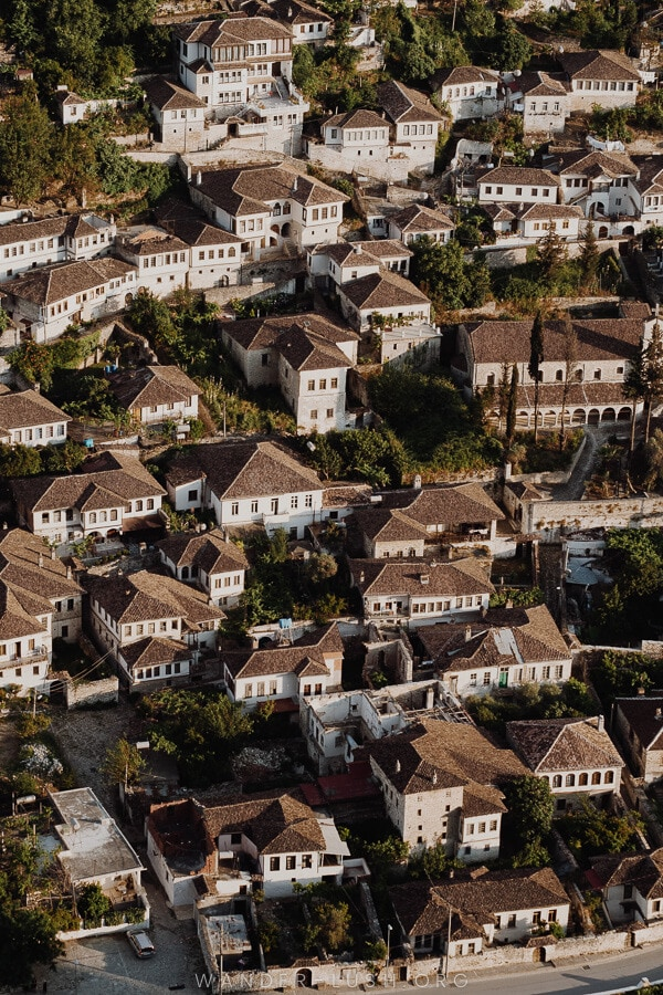 A sea of rooftops.