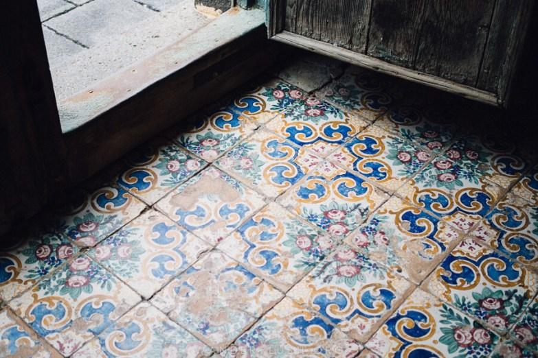 Beautiful hand-pressed floor tiles.