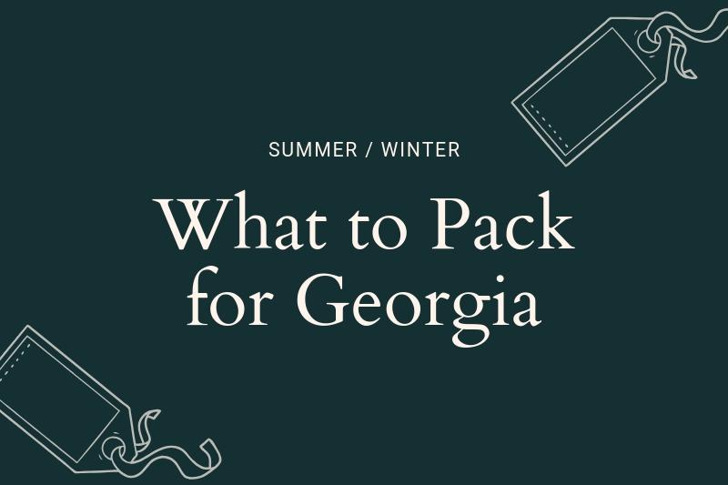 Georgia packing list