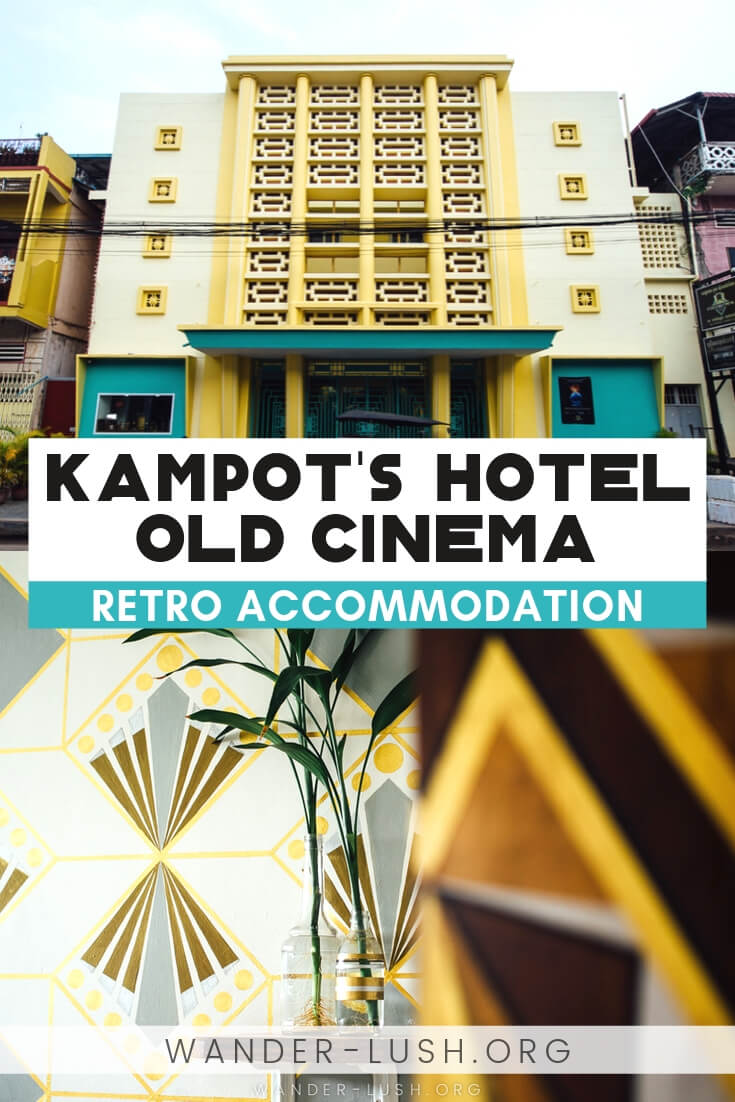 Hotel Old Cinema is a boutiqute hotel located inside a historic building in Kampot, Cambodia. Here is my review of the hotel and a bit about its history.