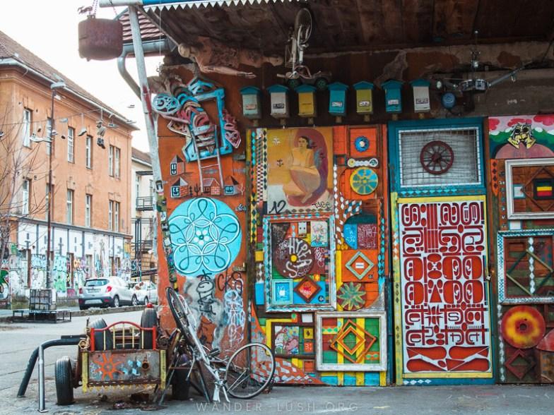 Colourful street art in Ljubljana.