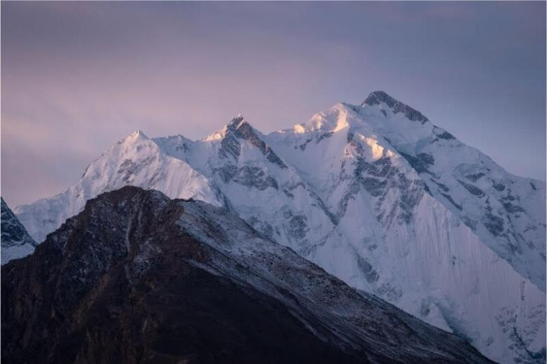 Snow-capped mountains in Pakistan.