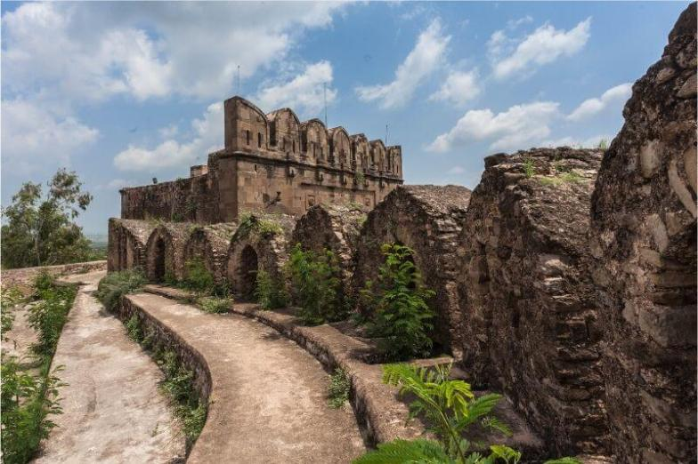 An ancient stone fortress in Pakistan.