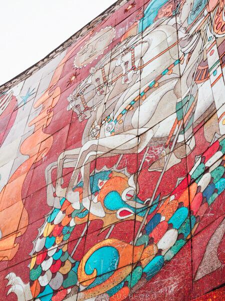 Close up of a mosaic.