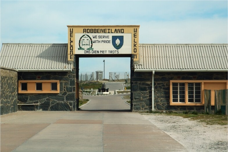 The entrance to Robben Island prison.
