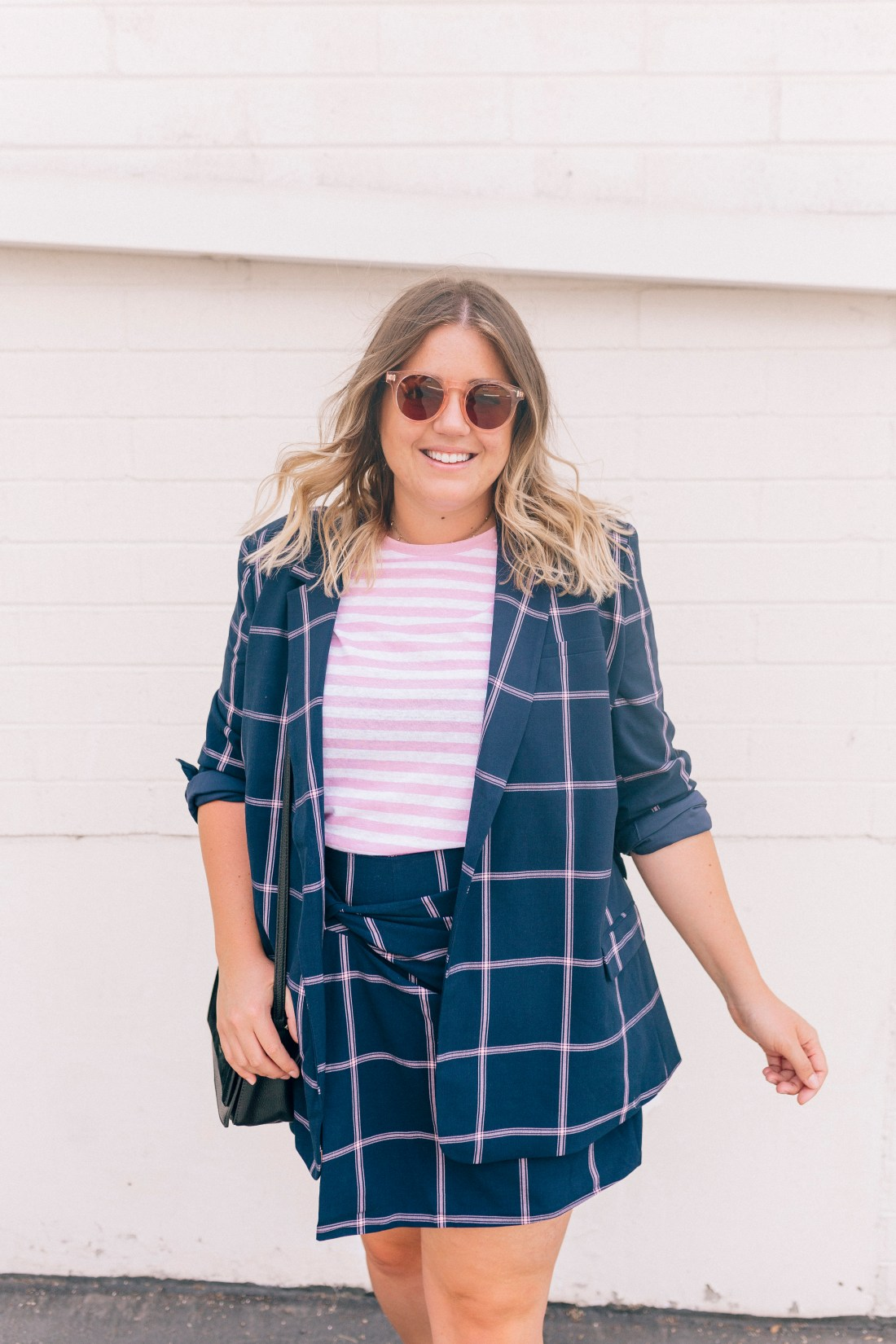 plaid suit set, summer to fall outfit, winter to spring outfit, summer work attire, summer work outfit, nordstrom anniversary sale