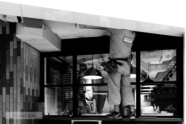 Man working overhead