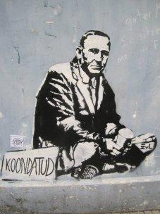 Tallinn sidewalk street art