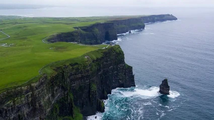 Cliff Moher View Atlantic Ocean