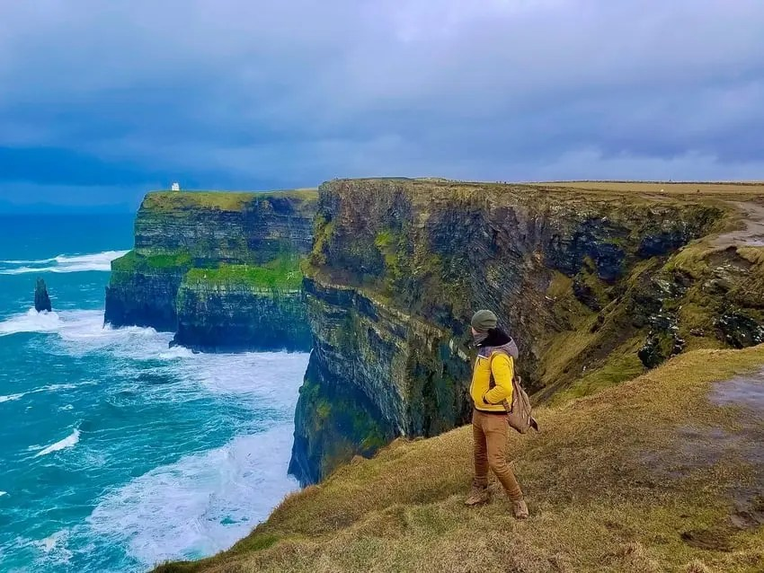Person Walking Cliff Moher