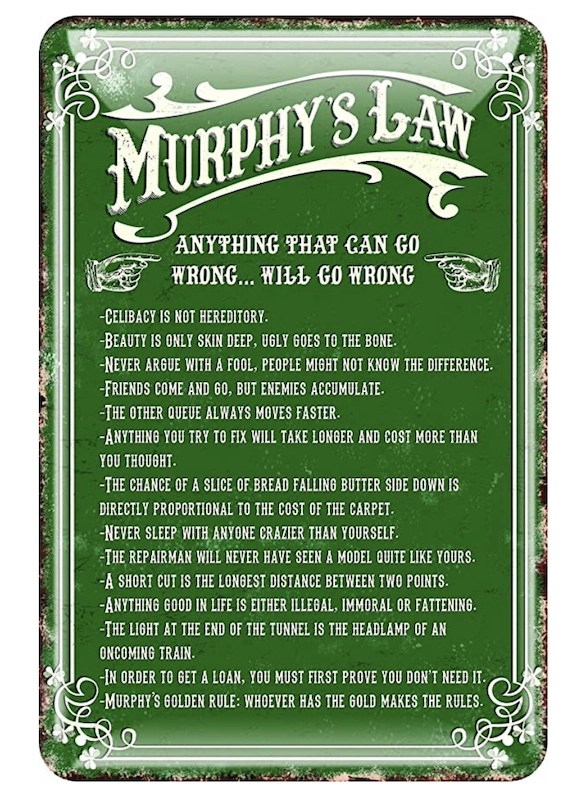 murphys law sign best gifts from ireland