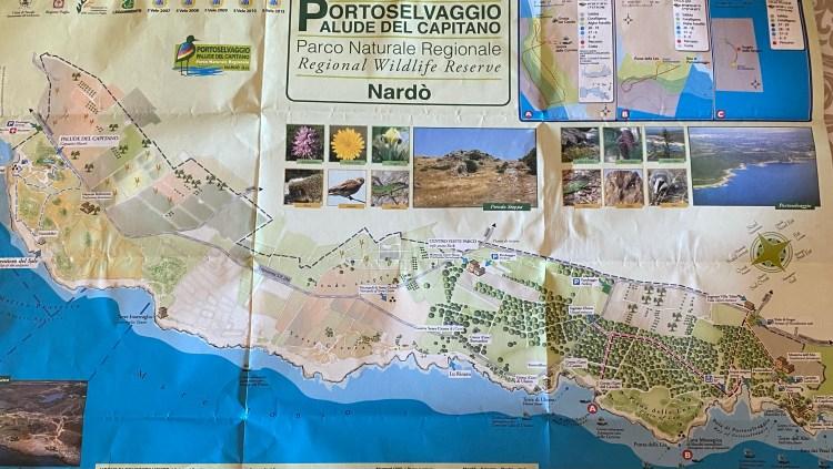 Mappa Parco Regionale di Porto Selvaggio e Palude del Capitano