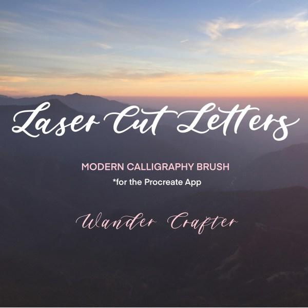 Glowforge procreate brush calligraphy