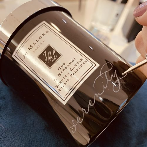 custom engraving etching calligraphy live calligrapher on-site brand activation