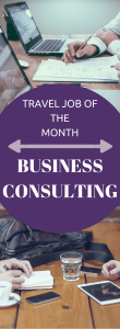 Travel Job of the Month, Business Consulting
