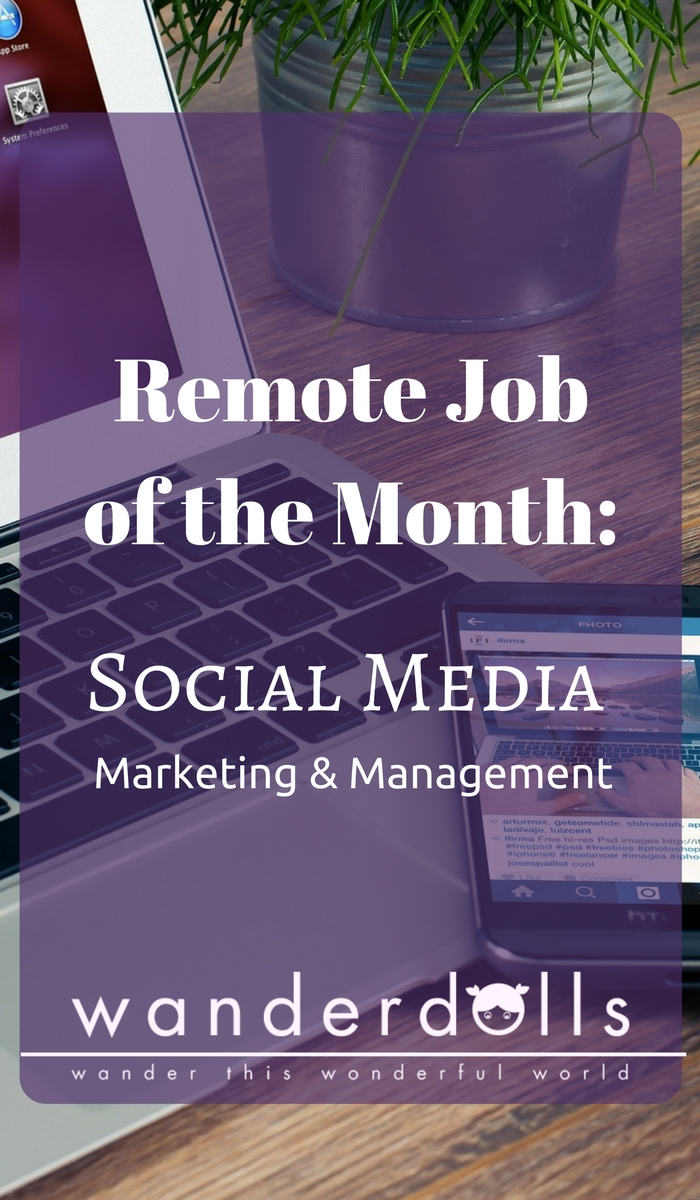 Remote Job of the Month - Social Media Marketing