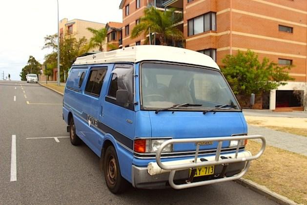 Unser neuer Van von vorne