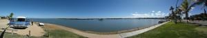 Picknick in Carnarvon am Wasser