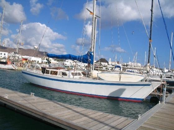 Die Segelyacht Bolero auf der ich einen Monat zu segeln/wohnen geplant habe