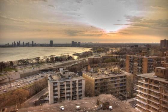 Der Blick über Toronto Richtung Westen von Jonathans Balkon aus