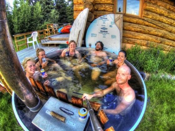 Weil's abends dann doch zu kalt wird ist der heisse Pool perfekt zum aufwärmen ;-)