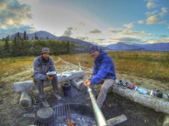 Unser Campingplatz am zweiten Tag. Diesmal ohne Regen