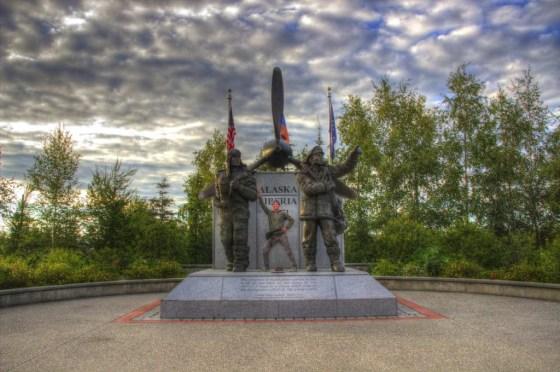 Alaska Liberia WWII Monument in Fairbanks