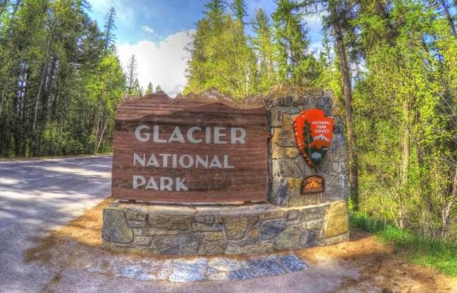 Eingangsschild zum Glacier National Park