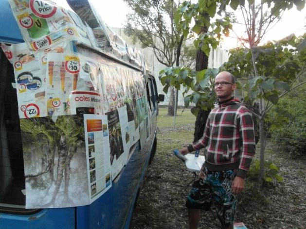 Der Van wurde abgeklebt und anschließend lackiert