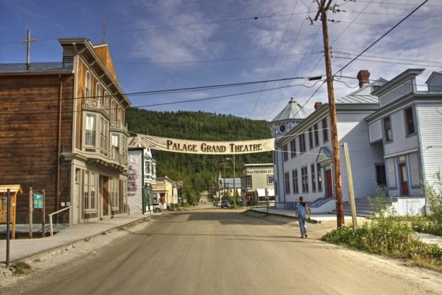 Die Innenstadt von Dawson City, Erinnerungen an Westernfilme werden wach