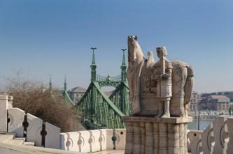 Eine Statue vom hl. König Stephan