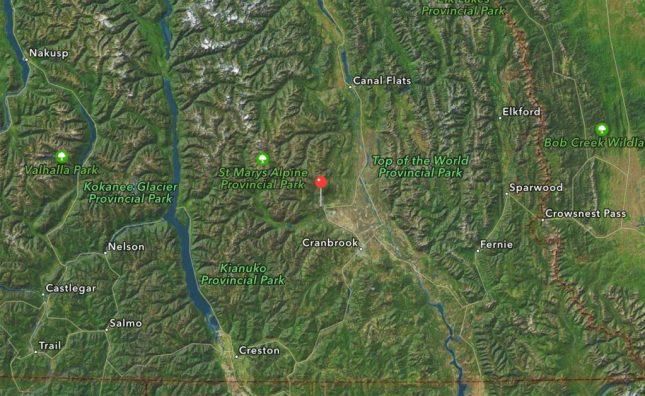 Karte vom Kimberley Mountain Resort